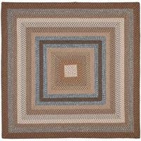 Safavieh Hand-woven Reversible Brown Braided Rug - 8' x 8' Square