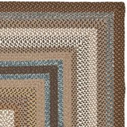Safavieh Hand-woven Country Living Reversible Brown Braided Rug (9' x 12') - Thumbnail 1