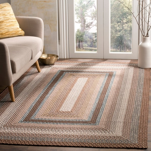 Safavieh Hand-woven Country Living Reversible Brown Braided Rug - 9' x 12'