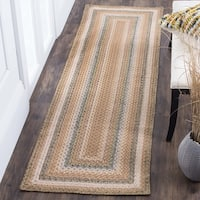 """Safavieh Hand-woven Country Living Reversible Tan Braided Rug - 2'3"""" x 12'"""