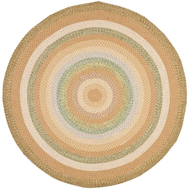 Safavieh Hand-woven Country Living Reversible Tan Braided Rug (6' Round)