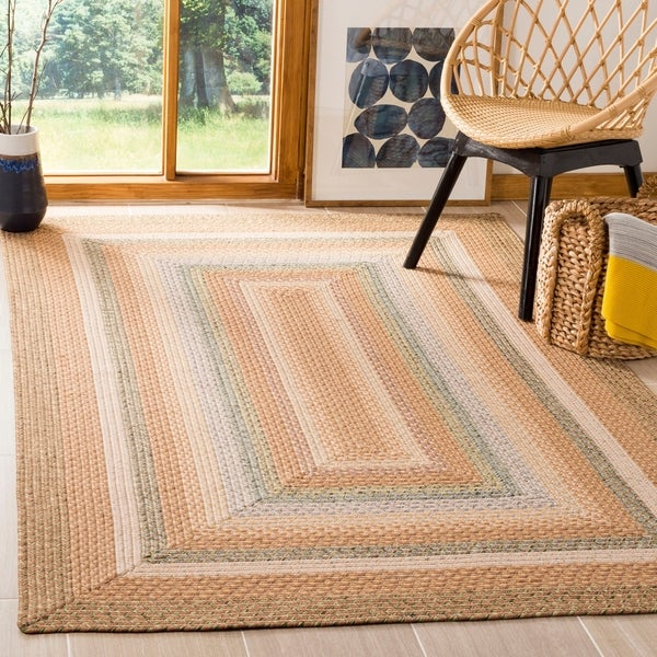 Safavieh Hand-woven Country Living Reversible Tan Braided Rug - 9' x 12'