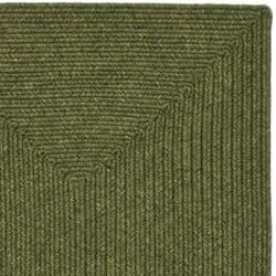 Safavieh Hand-woven Reversible Green Braided Rug (2'3 x 12') - Thumbnail 1