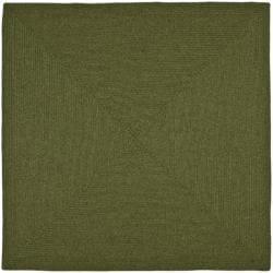 Safavieh Hand-woven Reversible Green Braided Rug (6' Square)