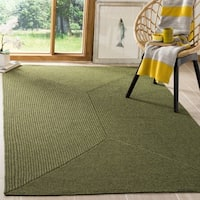Safavieh Hand-woven Reversible Green Braided Rug - 6' x 6' Square