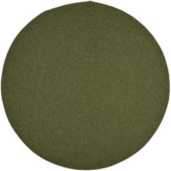 Safavieh Hand-woven Country Living Reversible Green Braided Rug (8' Round)