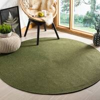Safavieh Hand-woven Country Living Reversible Green Braided Rug - 8' x 8' Round
