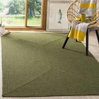 Safavieh Hand-woven Reversible Green Braided Rug - 8' x 8' Square