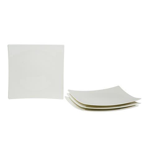 Red Vanilla Extreme White Dinner Plates (Set of 4)