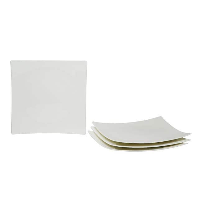 Red Vanilla Extreme White Dinner Plates (Set of 4 )