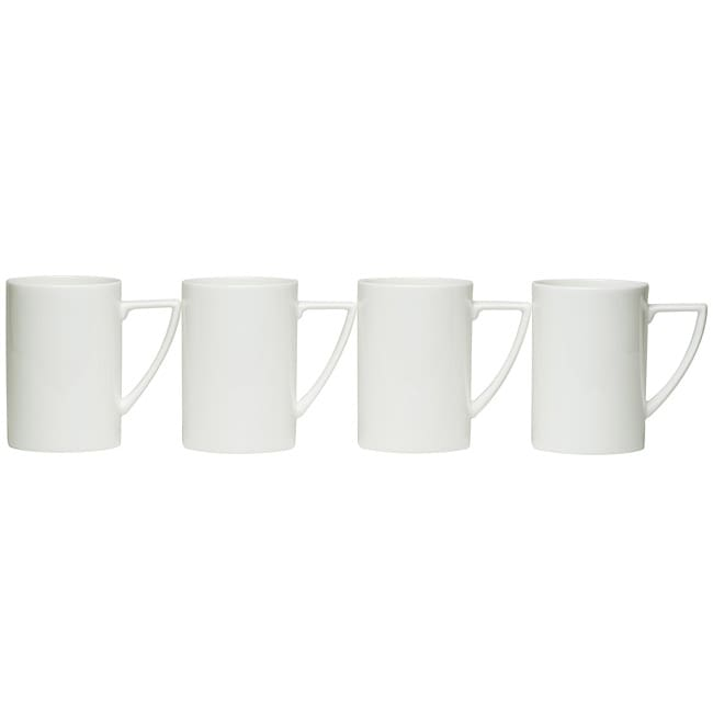 Red Vanilla Extreme White Mugs (Set of 4)