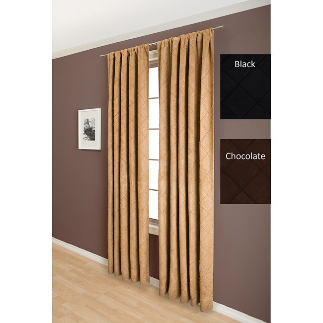 Lambrequin Niles Faux Suede Pin-tuck 84-inch Window Panel