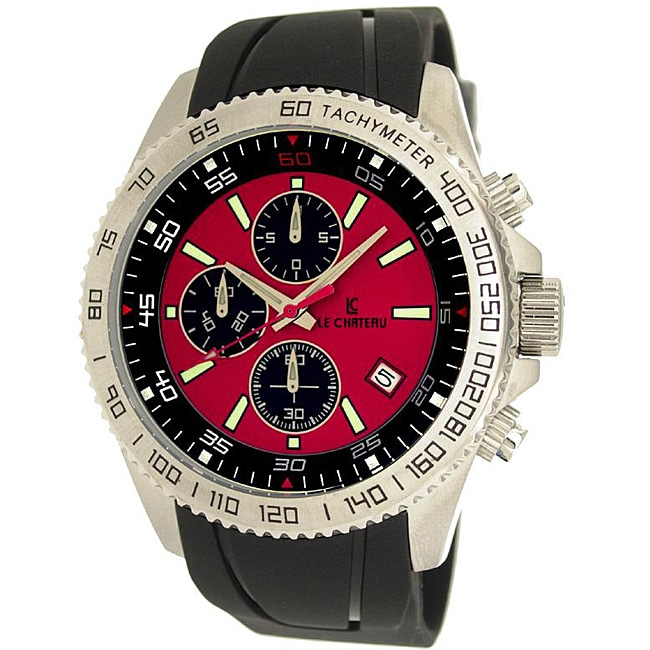 Le Chateau Men's Sport Dinamica Rubber Band Chronograph Watch