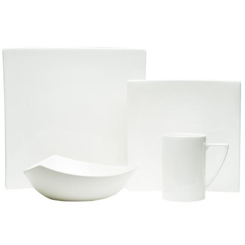 Red Vanilla Extreme White Salad Plate (Set of 4)