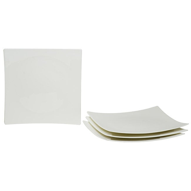 Red Vanilla Extreme White Salad Plates (Set of 4)
