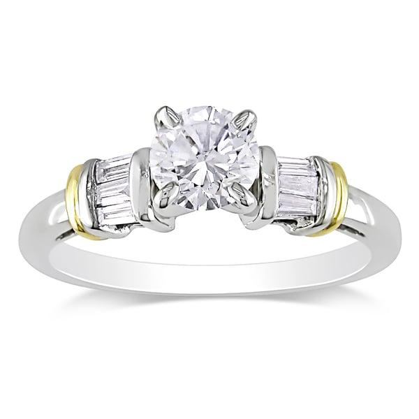Miadora 14k Two-tone Gold 3/4ct TDW Diamond Engagement Ring (G-H, I1-I2)