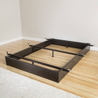 Mantua Java Brown California King-Size Metal Bed Base
