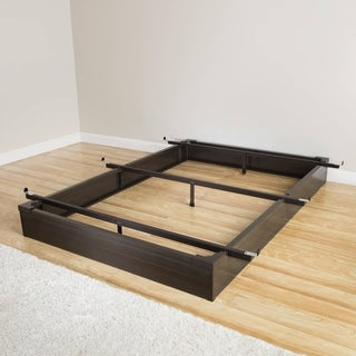mantua java brown california king size metal bed base - California King Wood Bed Frame