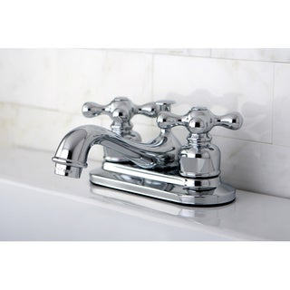 Kingston Brass Restoration Chrome Brass 4-inch Center Bathroom Faucet