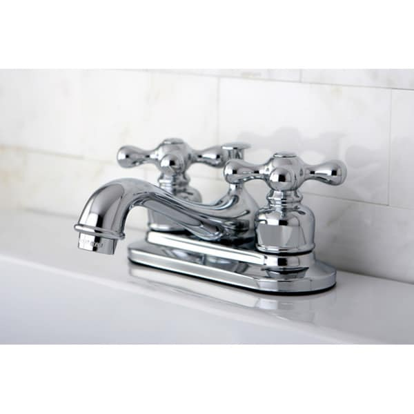 4 inch center bathroom faucet. Kingston Brass Restoration Chrome 4 Inch Center Bathroom Faucet