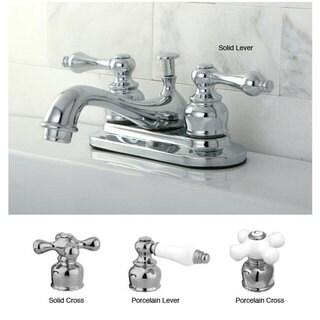 Restoration 4-inch Chrome Center Bathroom Faucet