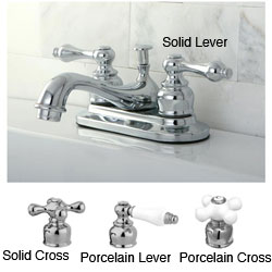 Restoration Chrome 4-inch Center Bathroom Faucet