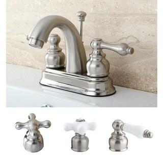 Satin Nickel Classic Double-handle Bathroom Faucet