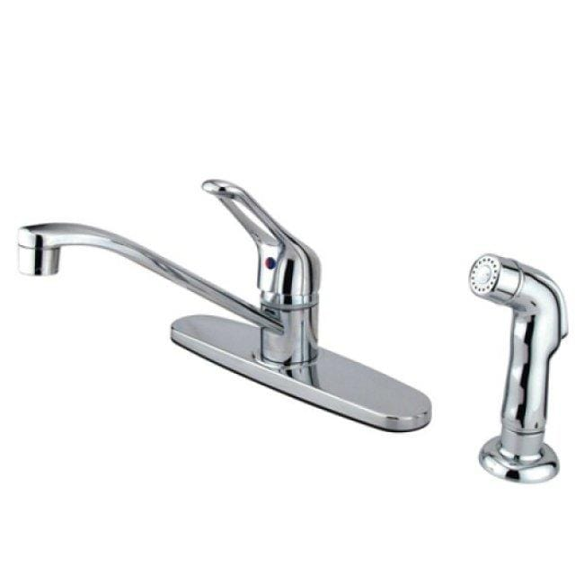 Shop Chrome Center Set Basic Kitchen Faucet With Side Sprayer Free
