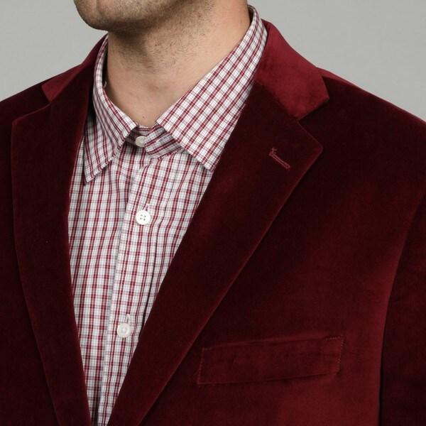 Adolfo Mens Velvet Sportcoat Sport Jacket