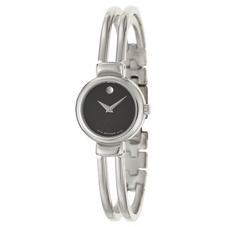 Movado Women's 606056 Harmony Stainless Steel Black Dial Watch