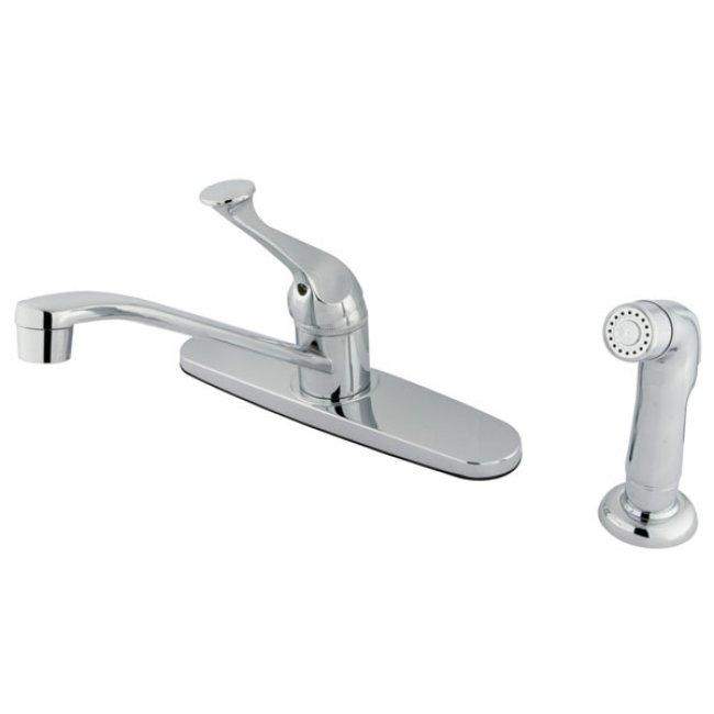 Chrome Basic Kitchen Faucet with Lever Handle and Side Sprayer