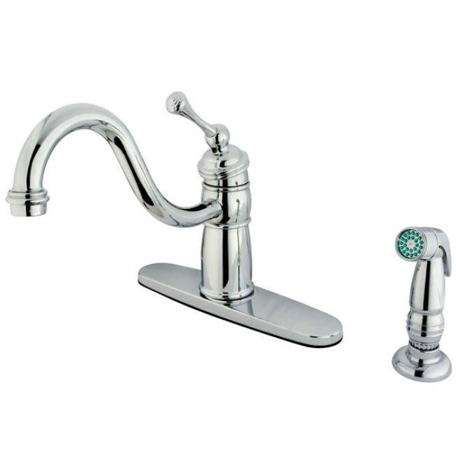Victorian Chrome Kitchen Faucet with Side Sprayer