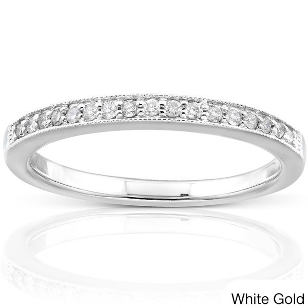 Annello by Kobelli 14k Gold 1/10ct TDW Diamond Wedding Band