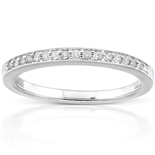 Annello 14k Gold 1/10ct TDW Diamond Wedding Band (H-I, I1-I2)