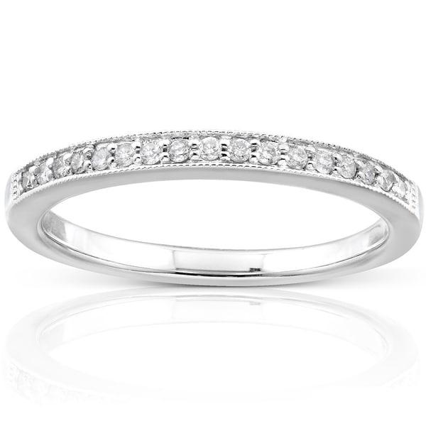 Annello by Kobelli 14k Gold 1/10ct TDW Diamond Wedding Band
