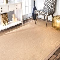 Havenside Home Lubec Handmade Eco Natural Fiber Cotton Border Sisal Area Rug (9 x 12) - 9' x 12'