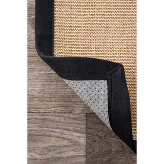 nuLOOM Handmade Eco Natural Fiber Cotton Border Sisal Rug (9 x 12)