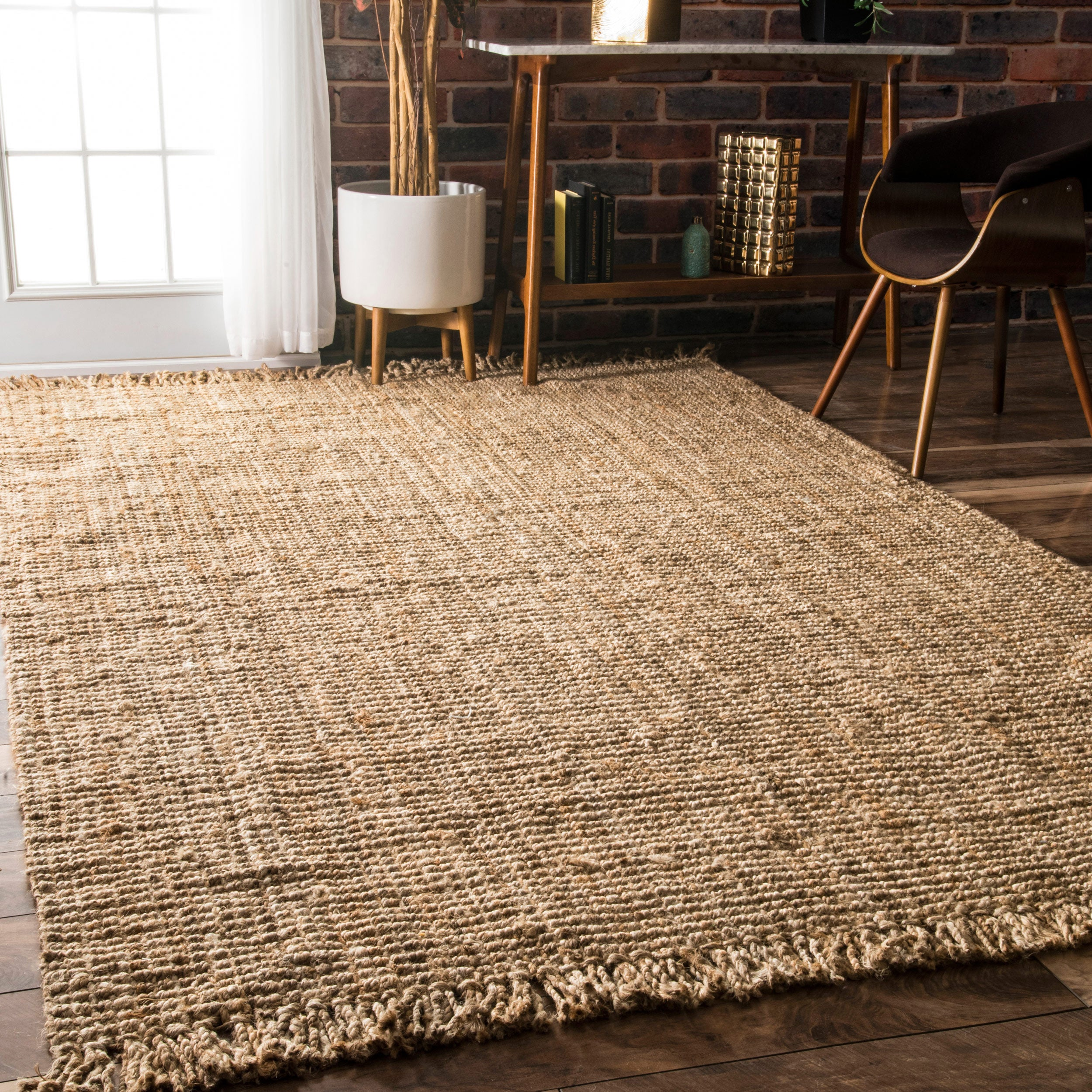 jute rugs reversible havenside today free shipping nuloom la fiber garden jolla x product eco area natural alexa home round overstock braided rug
