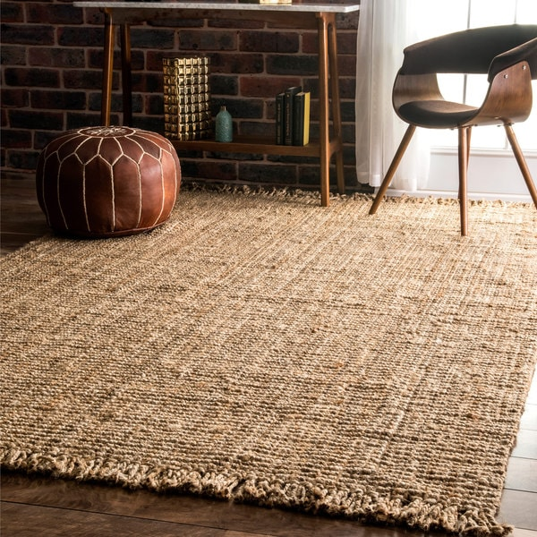 Handmade Natural Jute Braided Reversible Area Rug 6 X 9