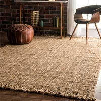 Havenside Home Caladesi Handmade Braided Natural Jute Reversible Area Rug (6' x 9') - 6' x 9'