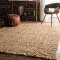 nuLoom Handmade Natural Jute Braided Reversible Area Rug (6' x 9')