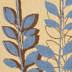 Safavieh Contemporary Indoor/Outdoor Natural/Blue Rug (6'7 Round)