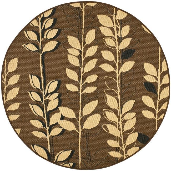 Safavieh Courtyard Foliage Brown/ Black Indoor/ Outdoor (6'7 Round)