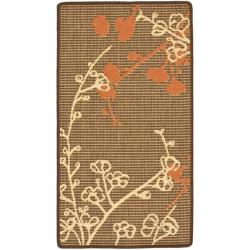 Safavieh Courtyard Brown/ Terracotta Indoor/ Outdoor Rug - 2' x 3'7 - Thumbnail 0
