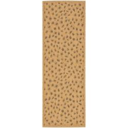 Safavieh Courtyard Natural/ Leopard Print Indoor/ Outdoor Runner (2'4 x 9'11)
