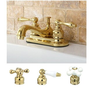 Restoration Polished Brass 4-inch Center Bathroom Faucet