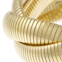 Celeste 18k Gold Overlay Interlocked Omega Stretch Bracelet