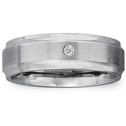 Cobalt Men's Diamond Accent Comfort Fit Band By Ever One - Thumbnail 0