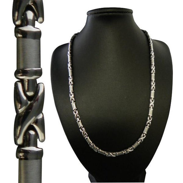Magnetic Stainless Steel X-tangle Necklace