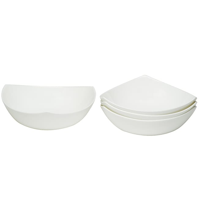 Red Vanilla Extreme White Soup Bowls (Set of 4)